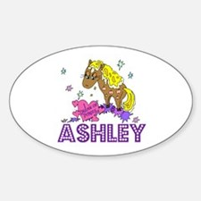 I Dream Of Ponies Ashley Oval Decal