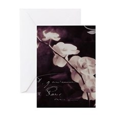Purple orchid Greeting Cards