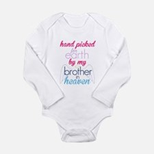 Unique Brothers and sisters Long Sleeve Infant Bodysuit