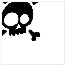 Whimsical Skull & Crossbones Poster