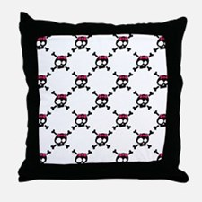 Whimsical Skull & Crossbones Throw Pillow