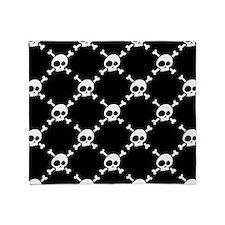 Whimsical Skull & Crossbones Pattern Throw Blanket