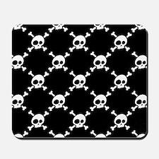 Whimsical Skull & Crossbones Pattern Mousepad
