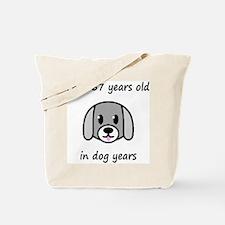 81 dog years 2 Tote Bag