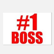 Number 1 Boss Postcards (Package of 8)