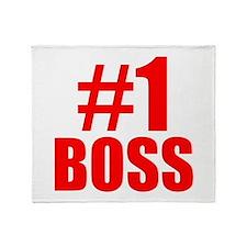 Number 1 Boss Throw Blanket