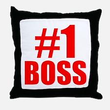 Number 1 Boss Throw Pillow