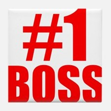 Number 1 Boss Tile Coaster