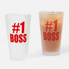 Number 1 Boss Drinking Glass