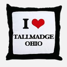 I love Tallmadge Ohio Throw Pillow