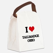 I love Tallmadge Ohio Canvas Lunch Bag
