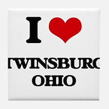 I love Twinsburg Ohio Tile Coaster