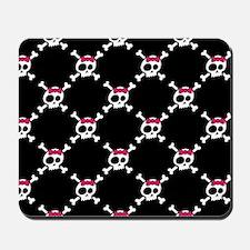 Whimsical Skull & Crossbones w/Bow Mousepad