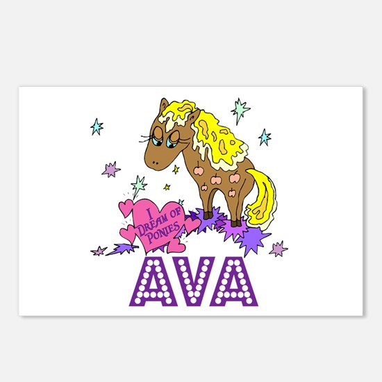 I Dream Of Ponies Ava Postcards (Package of 8)