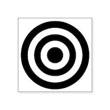 "Bull's_Eye Square Sticker 3"" x 3"""