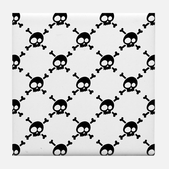 Whimsical Skull & Crossbones Tile Coaster