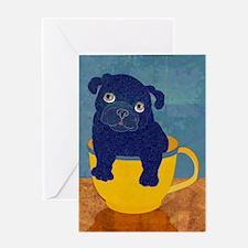Teacup Pug Greeting Card