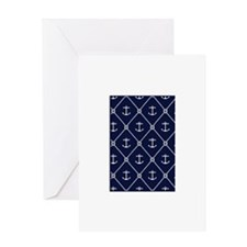 Navy Anchor & Knot Greeting Cards