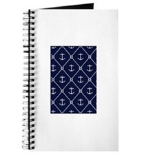 Navy Anchor & Knot Journal