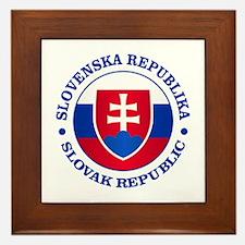 Slovakia (rd) Framed Tile