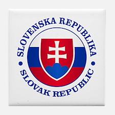 Slovakia (rd) Tile Coaster