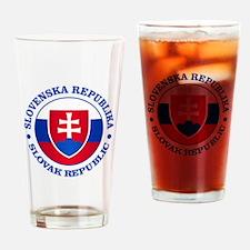 Slovakia (rd) Drinking Glass