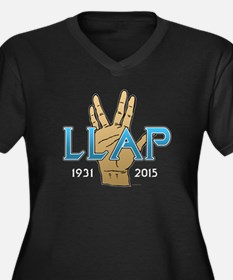 LLAP Spock Women's Plus Size V-Neck Dark T-Shirt