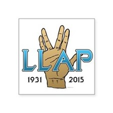 "LLAP Spock Square Sticker 3"" x 3"""