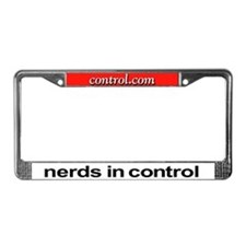 nerds in control License Plate Frame