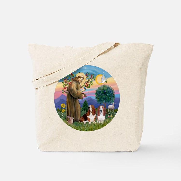 StFrancis-2Bassets Tote Bag