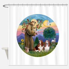 StFrancis-2Bassets Shower Curtain