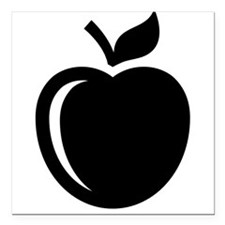 "Ripe Apple Square Car Magnet 3"" x 3"""