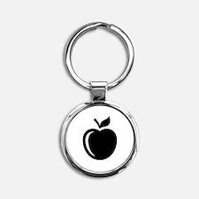 Ripe Apple Round Keychain