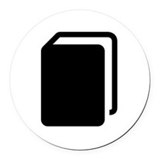 Black Book Round Car Magnet