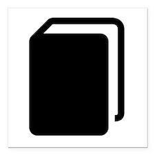 "Black Book Square Car Magnet 3"" x 3"""