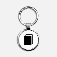 Black Book Round Keychain