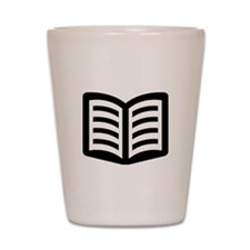 Open Book Shot Glass