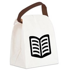 Open Book Canvas Lunch Bag