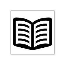 """Open Book Square Sticker 3"""" x 3"""""""