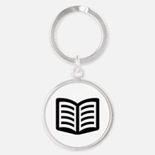 Open Book Round Keychain