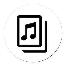 Sheet Music Round Car Magnet
