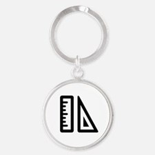Puzzle Piece School and Education Round Keychain