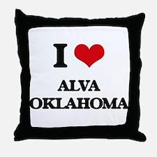 I love Alva Oklahoma Throw Pillow