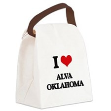 I love Alva Oklahoma Canvas Lunch Bag