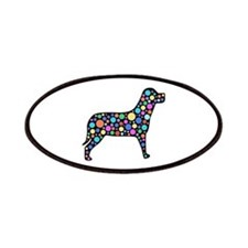 Dog With Circles Design Patch
