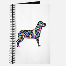 Dog With Circles Design Journal