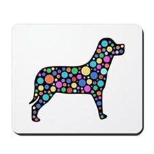 Dog With Circles Design Mousepad