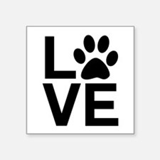 Love Dogs / Cats Pawprint Sticker
