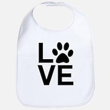 Love Dog / Cat Paw Print Bib
