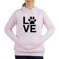 Love Dog / Cat Paw Print Women's Hooded Sweatshirt